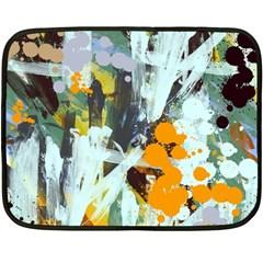 Abstract Country Garden Fleece Blanket (mini)