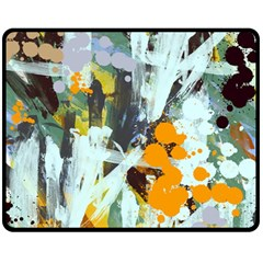 Abstract Country Garden Fleece Blanket (medium)  by theunrulyartist
