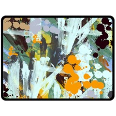 Abstract Country Garden Double Sided Fleece Blanket (large)  by theunrulyartist