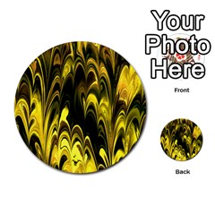 Fractal Marbled 15 Multi Purpose Cards (round)  by ImpressiveMoments