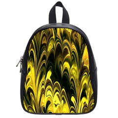 Fractal Marbled 15 School Bags (small)  by ImpressiveMoments