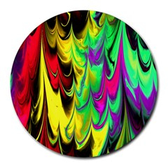 Fractal Marbled 14 Round Mousepads by ImpressiveMoments
