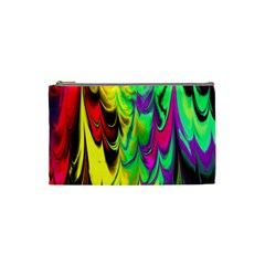 Fractal Marbled 14 Cosmetic Bag (small)  by ImpressiveMoments