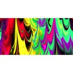 Fractal Marbled 14 HUGS 3D Greeting Card (8x4)  Front