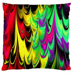 Fractal Marbled 14 Large Cushion Cases (one Side)  by ImpressiveMoments