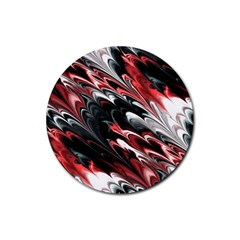 Fractal Marbled 8 Rubber Coaster (Round)  by ImpressiveMoments