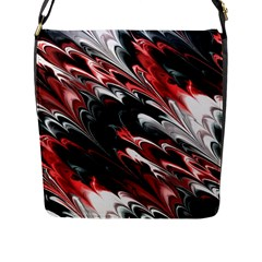 Fractal Marbled 8 Flap Messenger Bag (l)  by ImpressiveMoments