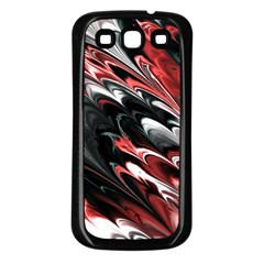 Fractal Marbled 8 Samsung Galaxy S3 Back Case (black) by ImpressiveMoments
