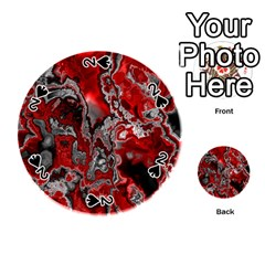 Fractal Marbled 07 Playing Cards 54 (round)