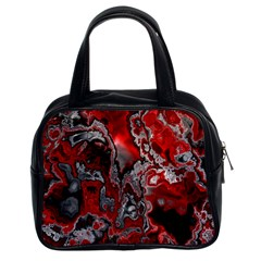 Fractal Marbled 07 Classic Handbags (2 Sides) by ImpressiveMoments