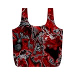 Fractal Marbled 07 Full Print Recycle Bags (M)  Front
