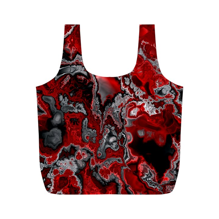 Fractal Marbled 07 Full Print Recycle Bags (M)