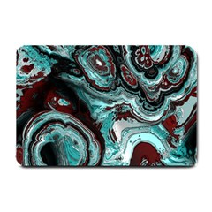 Fractal Marbled 05 Small Doormat  by ImpressiveMoments