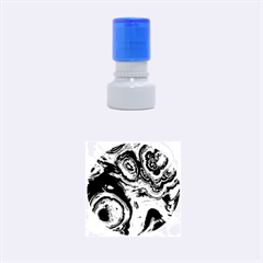 Fractal Marbled 05 Rubber Round Stamps (small) by ImpressiveMoments