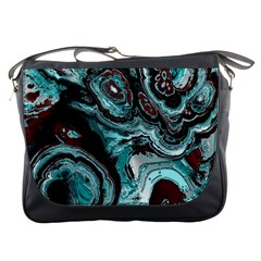 Fractal Marbled 05 Messenger Bags by ImpressiveMoments