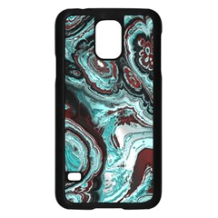 Fractal Marbled 05 Samsung Galaxy S5 Case (Black) by ImpressiveMoments