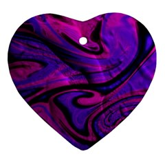 Wet Wallpaper, Pink Heart Ornament (2 Sides) by ImpressiveMoments