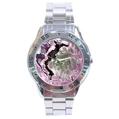 Wet Metal Pink Stainless Steel Men s Watch by ImpressiveMoments