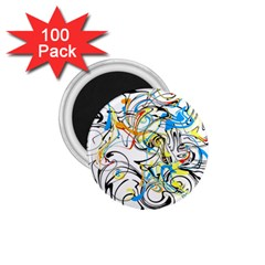 Abstract Fun Design 1 75  Magnets (100 Pack)  by digitaldivadesigns