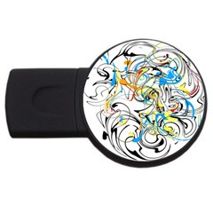 Abstract Fun Design Usb Flash Drive Round (4 Gb)  by theunrulyartist