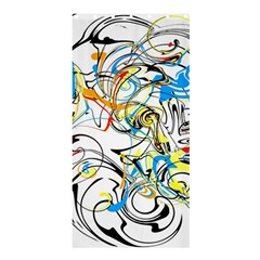 Abstract Fun Design Shower Curtain 36  X 72  (stall)  by theunrulyartist