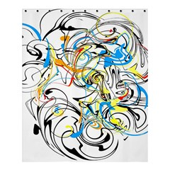 Abstract Fun Design Shower Curtain 60  X 72  (medium)  by theunrulyartist