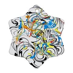 Abstract Fun Design Snowflake Ornament (2 Side) by digitaldivadesigns
