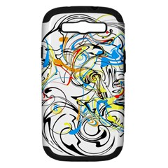Abstract Fun Design Samsung Galaxy S Iii Hardshell Case (pc+silicone) by theunrulyartist