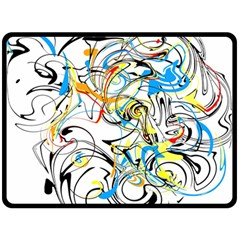 Abstract Fun Design Double Sided Fleece Blanket (large)  by theunrulyartist