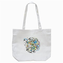 Abstract Fun Design Tote Bag (white)  by theunrulyartist