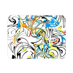 Abstract Fun Design Double Sided Flano Blanket (mini)  by theunrulyartist