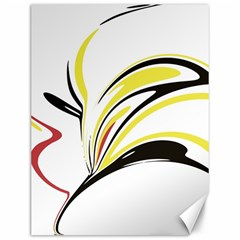 Abstract Flower Design Canvas 12  X 16   by theunrulyartist
