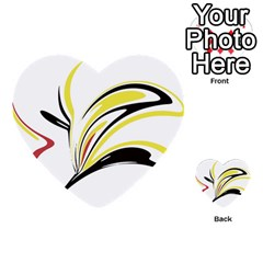 Abstract Flower Design Multi Purpose Cards (heart)