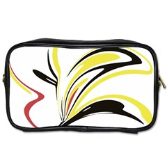 Abstract Flower Design Toiletries Bags