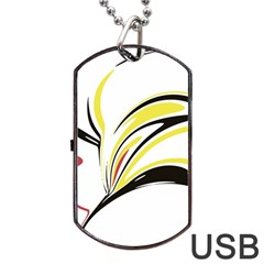 Abstract Flower Design Dog Tag Usb Flash (one Side) by theunrulyartist