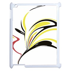 Abstract Flower Design Apple Ipad 2 Case (white) by theunrulyartist