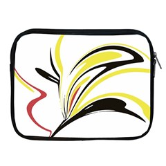 Abstract Flower Design Apple Ipad 2/3/4 Zipper Cases by theunrulyartist