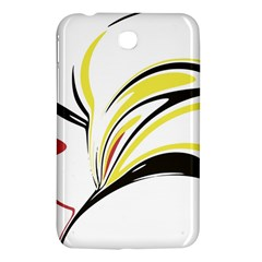 Abstract Flower Design Samsung Galaxy Tab 3 (7 ) P3200 Hardshell Case  by theunrulyartist