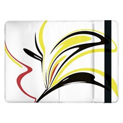 Abstract Flower Design Samsung Galaxy Tab Pro 12 2  Flip Case by theunrulyartist