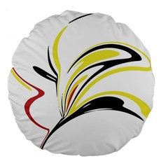 Abstract Flower Design Large 18  Premium Flano Round Cushions by theunrulyartist