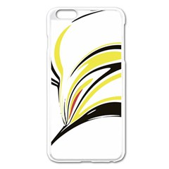Abstract Flower Design Apple Iphone 6 Plus Enamel White Case by digitaldivadesigns