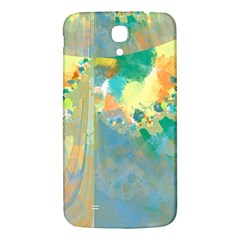Abstract Flower Design In Turquoise And Yellows Samsung Galaxy Mega I9200 Hardshell Back Case by digitaldivadesigns