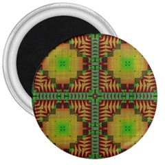 Tribal Shapes Pattern 3  Magnet by LalyLauraFLM