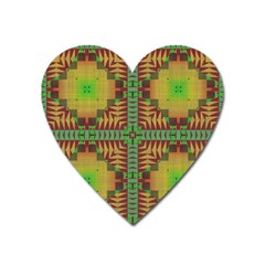Tribal Shapes Pattern Magnet (heart) by LalyLauraFLM