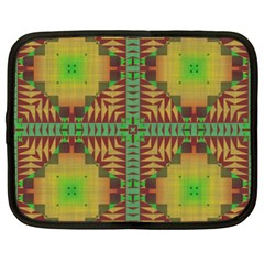 Tribal Shapes Pattern Netbook Case (xxl) by LalyLauraFLM