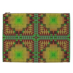 Tribal Shapes Pattern Cosmetic Bag (xxl) by LalyLauraFLM
