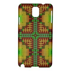 Tribal Shapes Pattern Samsung Galaxy Note 3 N9005 Hardshell Case by LalyLauraFLM