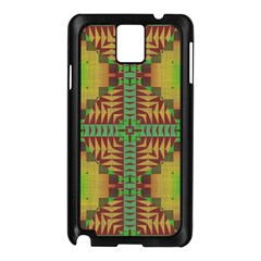 Tribal Shapes Pattern Samsung Galaxy Note 3 N9005 Case (black) by LalyLauraFLM