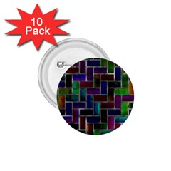 Colorful Rectangles Pattern 1 75  Button (10 Pack)  by LalyLauraFLM