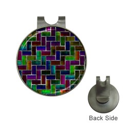 Colorful Rectangles Pattern Golf Ball Marker Hat Clip by LalyLauraFLM